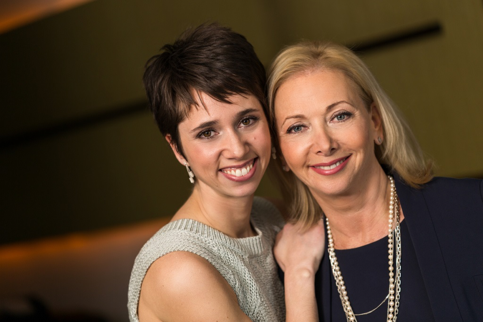 mother and daughter businesspeople