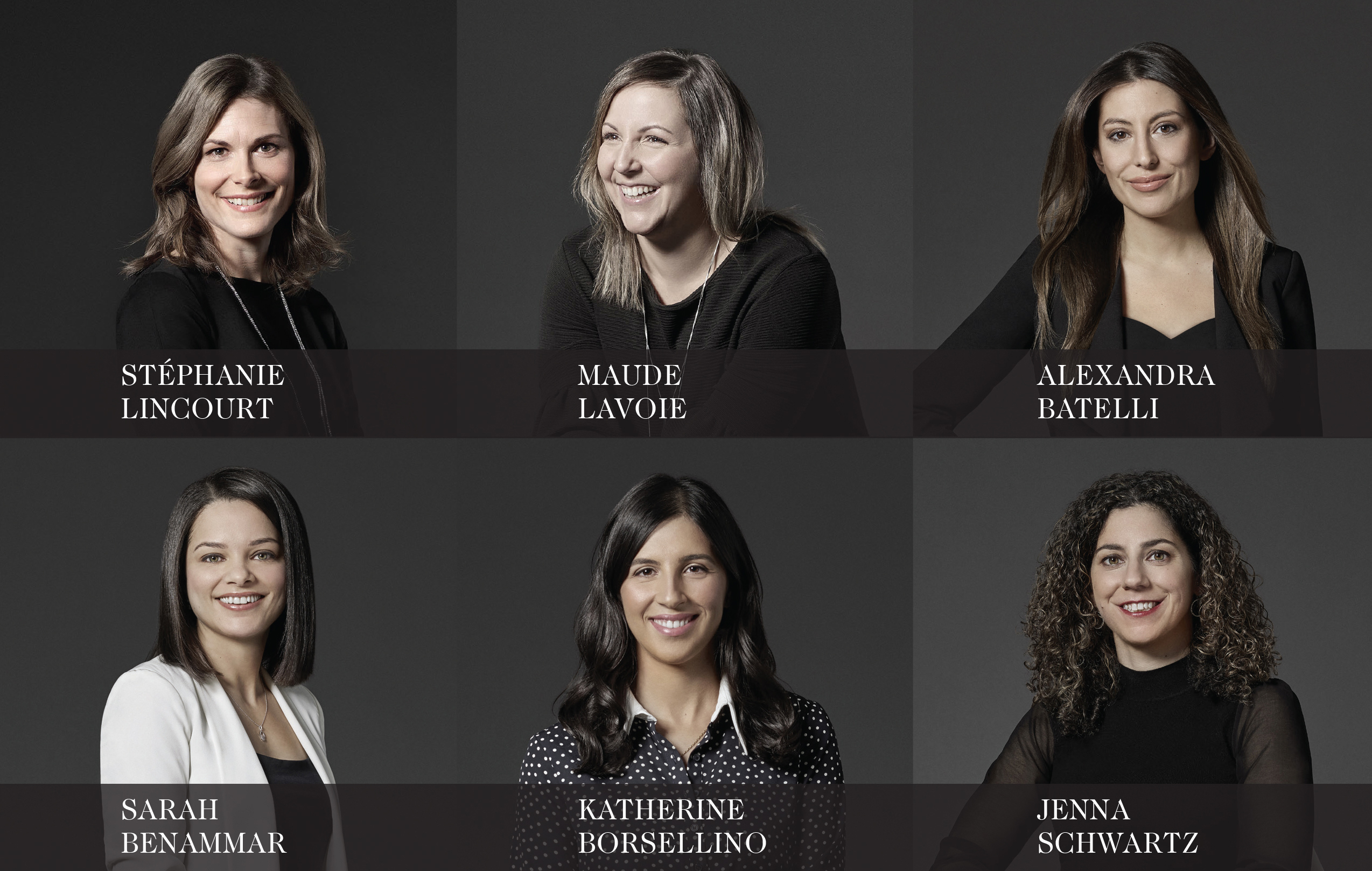 portraits of 6 Richter team members who are focused on real estate