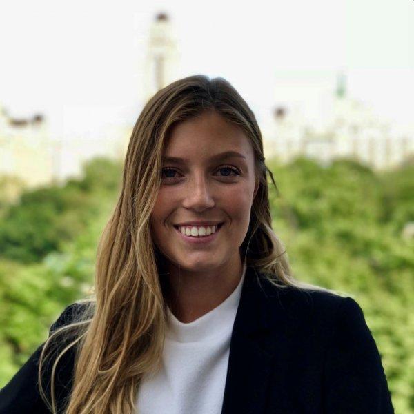 smiling intern