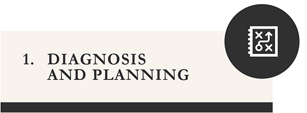 Diagnosis and planning - icon