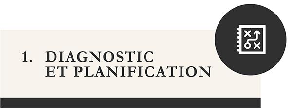 Diagnostic et planification - icone