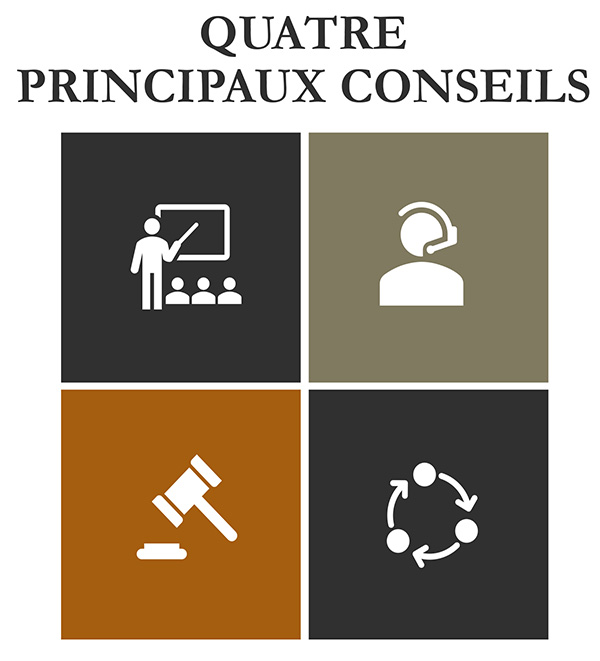 Projet de loi 64 - Quatre principaux conseils